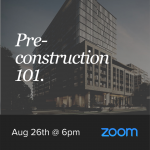 Pre-Construction Seminar - August 26th